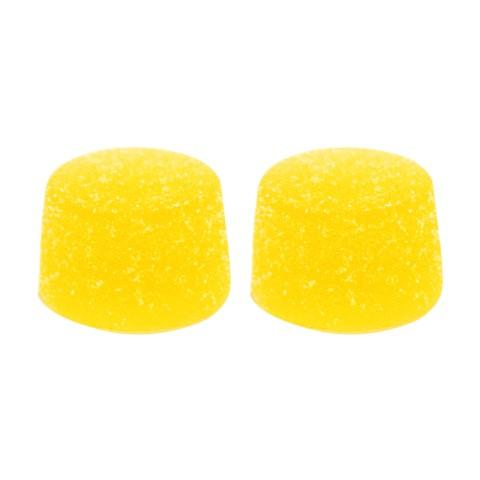 PEACH MANGO CHEWS 2 PC by Foray Two balanced peach mango flavored chews with 5mg of CBD and 5mg of THC per chew. Pectin-based and vegan-friendly.