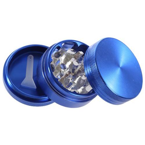 "3-PART 2""L ALUMINUM GRINDER by Moji Mellow This 2"" three-part grinder by Moji Mellow is made of sturdy aluminum. For use with dried flower."