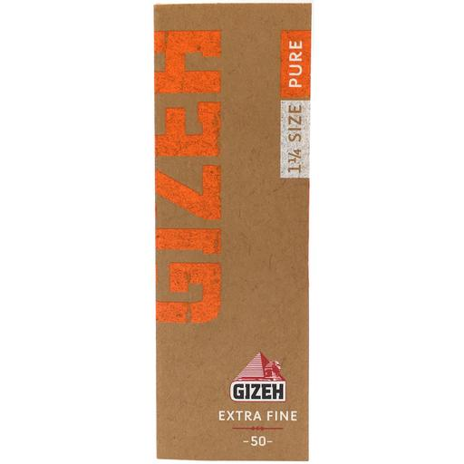 "PURE EXTRA FINE 1 1/4 ROLLING PAPER by Gizeh Pack of 50 vegan hemp 1¼ "" rolling papers."