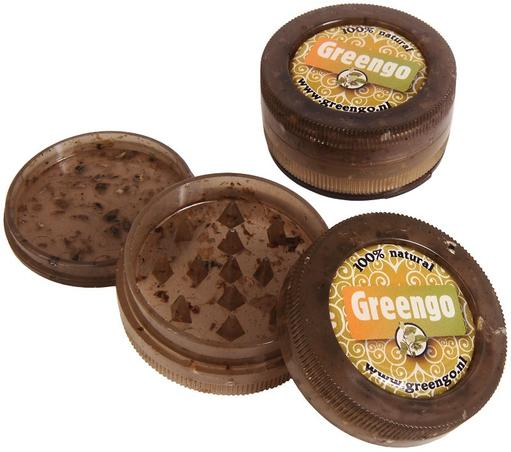 ECO GRINDER by Greengo Three-piece grinder with storage (mesh screen not included). Made from recycled plastic (hemp-derived).